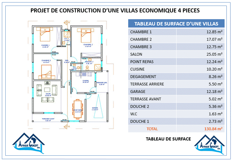 PLAN VILLA SOCIALE  PIECES
